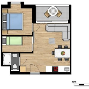 New Holiday Suite for 2 adults and 3 children with bedroom and sleeping corner