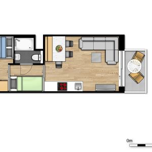 New Holiday suite for 2 adults and 3 children with 2 sleeping corners